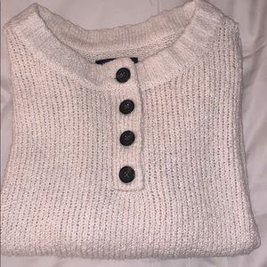 Cream Sweater With Buttons